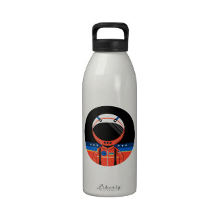 Cartoon Science Fiction Spaceman Water Bottles