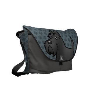 Cartoon Scottish Terrier Commuter Bags