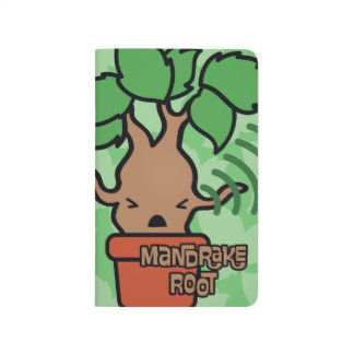 Cartoon Screaming Mandrake Character Art Journal
