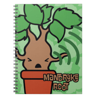 Cartoon Screaming Mandrake Character Art Notebooks