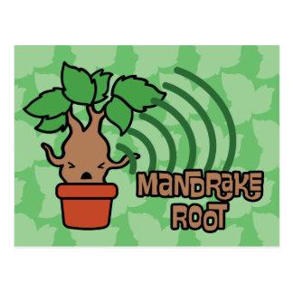Cartoon Screaming Mandrake Character Art Postcard