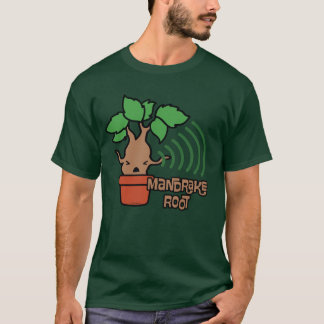 Cartoon Screaming Mandrake Character Art T-Shirt