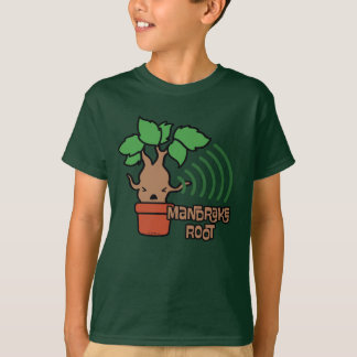 Cartoon Screaming Mandrake Character Art T-Shirt