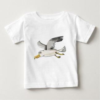 cartoon seagull flying over head baby T-Shirt