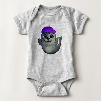 Cartoon seal baby bodysuit