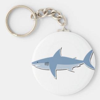 Cartoon Shark Key Ring