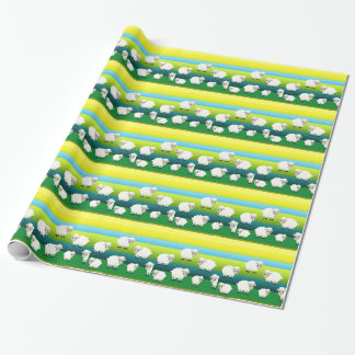 Cartoon Sheep Wrapping Paper