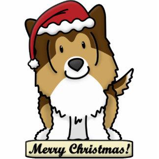 Cartoon Sheltie Christmas Ornament Photo Sculpture Decoration