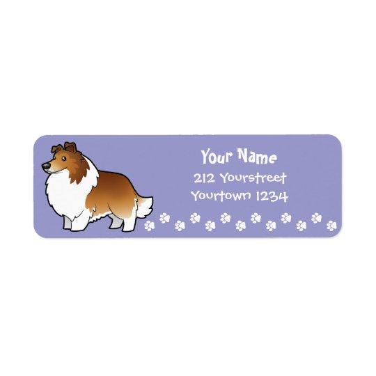 Cartoon Shetland Sheepdog / Collie Return Address Label