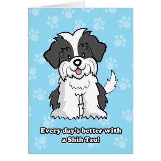 Cartoon ShihTzu Greeting Card
