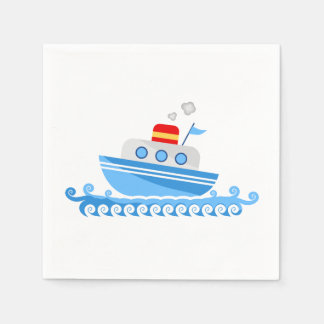 Cartoon Ship Disposable Serviettes