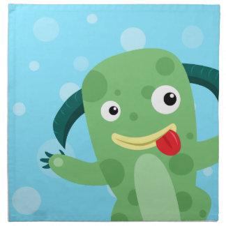 Cartoon Silly Green Monster Napkins