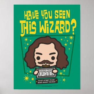 Cartoon Sirius Black Wanted Poster Graphic