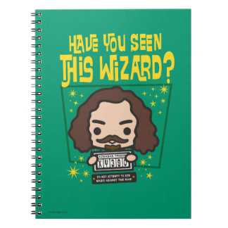 Cartoon Sirius Black Wanted Poster Graphic Spiral Notebook