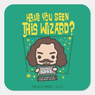 Cartoon Sirius Black Wanted Poster Graphic Square Sticker