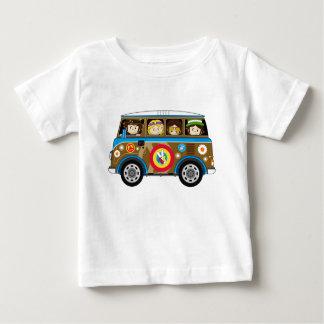 Cartoon Sixties Peace Hippie Van Baby T-Shirt