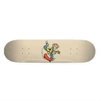 Cartoon Skateboarder Skateboard