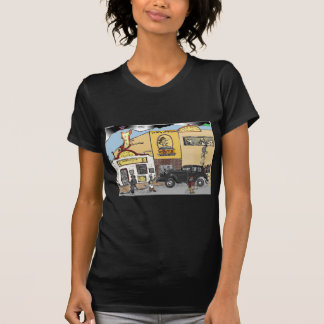 Cartoon Sketch of Roanoke's Landmark Texas Tavern T-Shirt