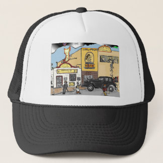 Cartoon Sketch of Roanoke's Landmark Texas Tavern Trucker Hat