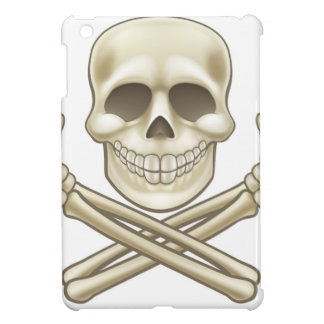 Cartoon Skull and Crossbones Pirate Thumbs Up iPad Mini Cases