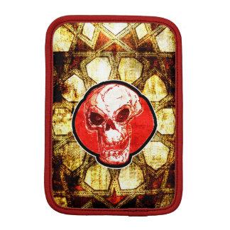 cartoon skull and traditional turkish tile iPad mini sleeve