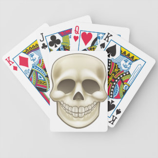 Cartoon Skull Bicycle Playing Cards