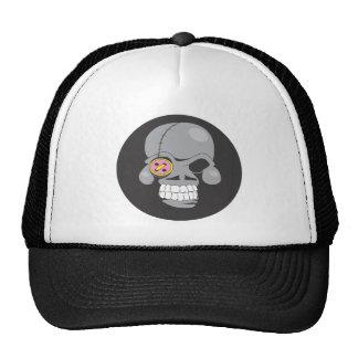 Cartoon skull patch trucker hats