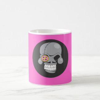 Cartoon skull patch coffee mugs