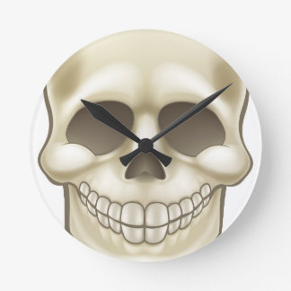 Cartoon Skull Round Clock