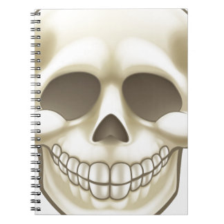 Cartoon Skull Spiral Notebook