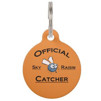 Cartoon Sky Raisin Catcher Pet ID Tag