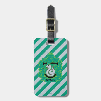 Cartoon Slytherin Crest Luggage Tag