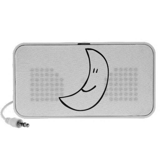 Cartoon Smiling Moon Travelling Speakers