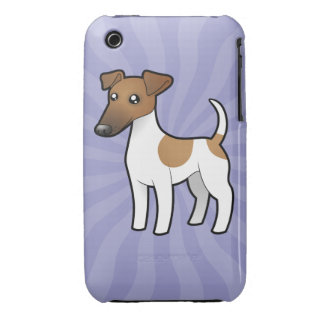 Cartoon Smooth Fox Terrier iPhone 3 Cases