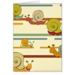 Cartoon Snail Race Cards