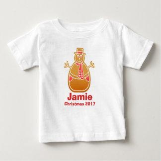 Cartoon Snowman Gingerbread Cookie Customize Baby T-Shirt