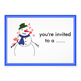 Cartoon Snowman Little Flirty Boy Announcement