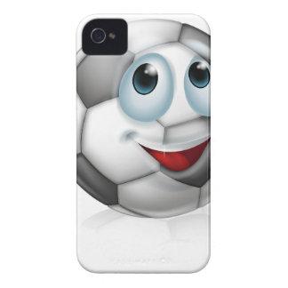 Cartoon soccer ball character iPhone 4 case