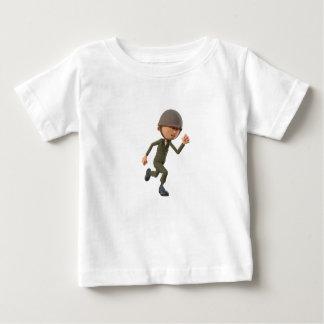 Cartoon Soldier Running Baby T-Shirt