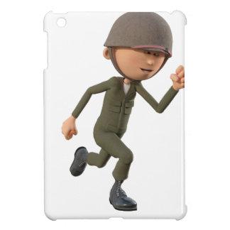 Cartoon Soldier Running iPad Mini Cover