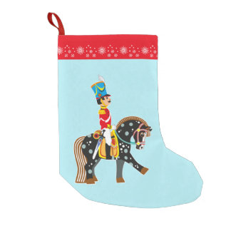 cartoon soldier small christmas stocking