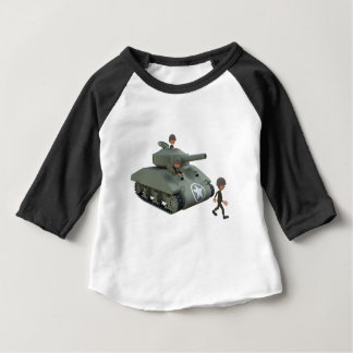Cartoon Soldiers in a Tank