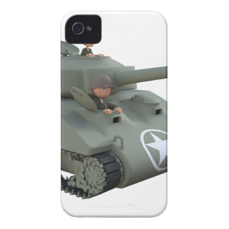 Cartoon Soldiers in a Tank Case-Mate iPhone 4 Case