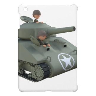 Cartoon Soldiers in a Tank iPad Mini Cover