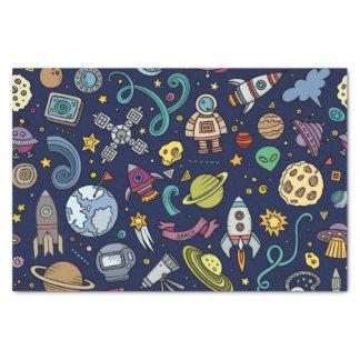 Cartoon Space Explorer Birthday Kids Theme Tissue Paper