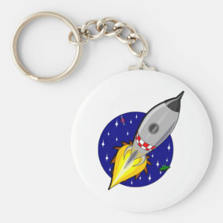 Cartoon Space Rocket Keychains