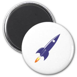 Cartoon Space Rocket Fridge Magnet