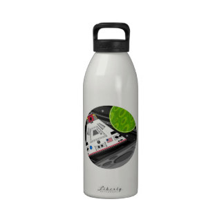 Cartoon Space Shuttle Capsule Reusable Water Bottle