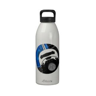 Cartoon Space Shuttle Water Bottle