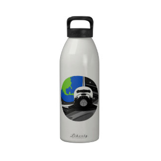 Cartoon Space Shuttle Reusable Water Bottle